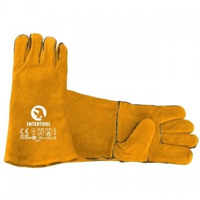 Перчатки INTERTOOL SP-0157 изготовлены из качественной замши черного цвета с логотипом INTERTOOL на манжете. Предназначены для выполнения строительных и бытовых работ. Мягкость материала не сковывает движений пальцев. Надежно защищают руки от механических повреждений и загрязнений.